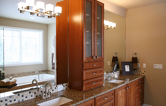 Does the bathroom serve any other purpose? Do you need more bathroom storage, or dual sinks?